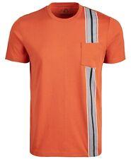 American Rag Men's Racing-Stripe Pocket T-Shirt, Potters Clay Medium - NEW
