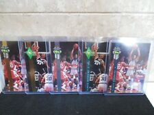1992 Classic 4 Sport Alonzo Mourning (5) card set, 2 Gold, 1 Silver, 2 Plain.