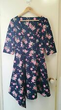 NEw Vintage inspired peony rose fit and flare dress, size 10-12
