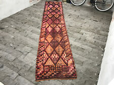 FREE SHIPPING! Long Turkish Rug 2.5x12.4ft Hereke Kilim Runner Rug Vintage Herke