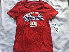 A63 New York Giants Girls V-Neck T-Shirt Large 10/12