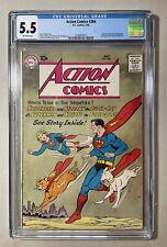 Action Comics #266,7/60, CGC 5.5,Krypto & Streaky, Full page Green Lantern #1 ad