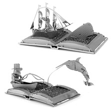 Fascinations Metal Earth Book Sculpture Kit Moby Dick & The Old Man and The Sea