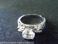 3 STONE LCS* DIAMOND ANNIVERSARY WEDDING ENGAGEMENT RING BAND SZ 6