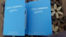 EXCELLENT perfume 2 DOLCE & GABBANA LIGHT BLUE  2X 1.5ml   2 SAMPLES
