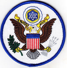 GREAT SEAL OF UNITED STATES - USA - EAGLE - EMBLEM -  Iron On Embroidered Patch,