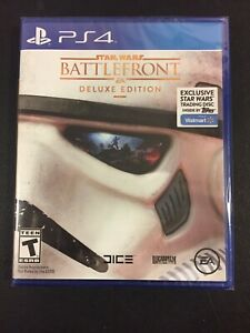 PS4 Star Wars Battlefront Deluxe Edition Walmart Topps PlayStation 4 New Sealed