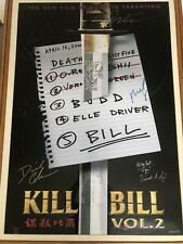 More details for kill bill vol 2 cast signed poster