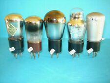 lotto di cinque valvole radio anni '30 triodi.  lampe Röhre.  test + che buono