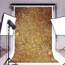 3X5ft Golden Glitters Vinyl Photography Background Backdrop Photo Studio Props