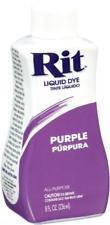Purple Color Dye Fabric Rit Liquid 8 Oz Clothing Clothes Hide Laundry Garment .
