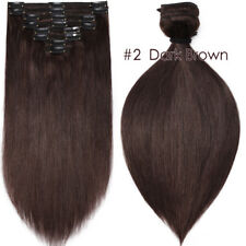 200g Double Weft Clip In Thick Full Head Real Remy Human Hair Extensions US F610