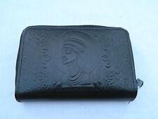 Egyptian Leather Women Lady Black Clutch Wallet Purse Card Nefertiti 222 Sale!!!