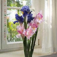 Home Gorden Vase Decor Beautiful Artificial Flowers & Plants Iris/ fleur-de-lis