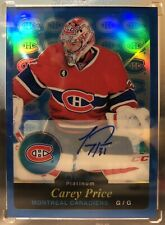 Carey Price Rainbow Retro Blue Autograph RARE SP 15-16 OPC Platinum
