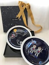 DOLCE & GABBANA DESIGNER IN SPACE CARTOON DISHES PLATE FOR BAG SHOES SLIPPERS