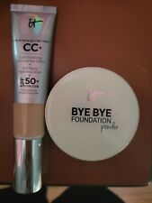 It Cosmetics Cc Cream Light Medium and Bye Bye Foundation powder