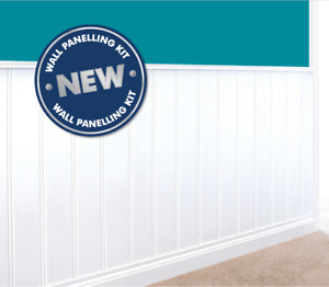 MDF WALL PANELLING KIT INCLUDING SKIRTING AND DADO RAIL