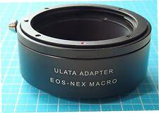 ULATA Lens Mount Adapter Macro Focusing Tube Helicoid + Cap Canon EOS to Sony E