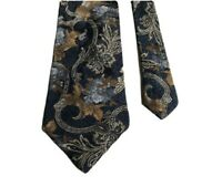 Floral Print Design Classy Fancy 100% Silk Men's Neck Tie Ties