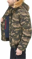 Tommy Hilfiger Men's Quilted Arctic Cloth Snorkel, Camouflage, Size X-Large cOU4