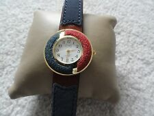 New Ladies EKO Quartz Blue and Red Watch with a Leather Band