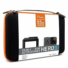 Pieviev Accessories Case Kit for Gopro HERO5 Frame Black Included 55+ Items NEW
