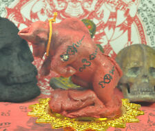 Anti Black Magic RED BULL Wua Tanu Bucha Statue Protection  thai buddha amulet