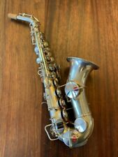 KING CURVED Soprano Saxophone Nr 123986 in Silver - Repadded PERFECT Ships FREE