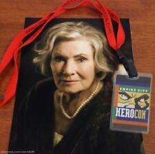 Superhero Movie Film Aunt Lucille's Portrait & Hero Con Pass Prop ScreenUsed COA