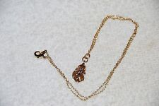 NECKLACE WOMEN'S COSTUME JEWELRY BRAND NEW WITH GOLD LEAF DESIGN PENDANT!