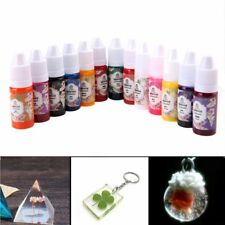 13color Liquid Silicone UV Resin Coloring Dye Colorant Pigment mix Easy Drop Tip