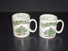 Spode Christmas Tree Garland Mugs Set 2 Sticker Label