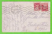 Sur CP - TCHECOSLOVAQUIE - 2 timbres - 1921
