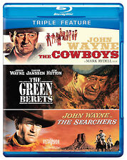 The Cowboys/The Green Berets/The Searchers (Blu-ray Disc, 2012, 3-Disc Set) NEW!