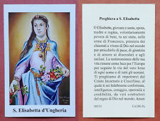 Santino Holy Card: S. Santa Elisabetta d'Ungheria