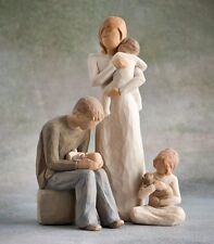 Willow Tree Mother & Father with 3 Children (Opt3) Figurine Gift Set