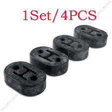 4PC BLACK Universal Car Polyurethane Rubber 2 Hole 11.5mm Exhaust Muffler Hanger