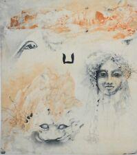 JORG SCHMEISSER-German Artist-Hand Signed LIM.ED Etching-Surreal Composition