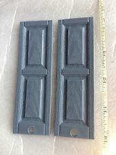 1:12 scale 16 Pair  32 pcs  Raised panel plastic doll house shutters Light Blue