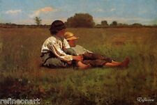 "Winslow Homer Boys in a Pasture Handmade Oil Painting 24"" x 36"""