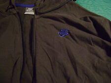 Nike Hoodie Charcoal Men's Large Long Sleeve Sweatshirt Zip Front 100% Cotton