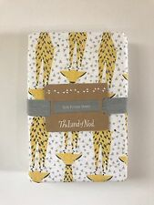 The Land of Nod Crib Fitted Sheet Savanna Giraffe