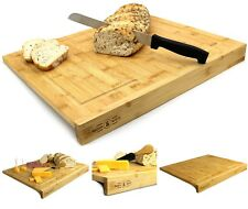 Counter Edge Bamboo Chopping Board / Secure Wooden Kitchen Cutting Board #A1