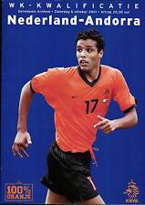 World Cup Qualifier 06.10.2001 Netherlands - Andora, Gelredom Arnhem