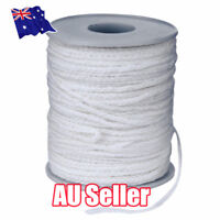 NEW 60M/Roll Spool of Cotton Square Braid Candle Wicks Wick Core Candle Making E