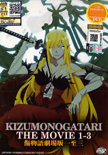 Kizumonogatari DVD Movie 1-3 (Japanese Ver) - Anime - US Seller Ship FAST