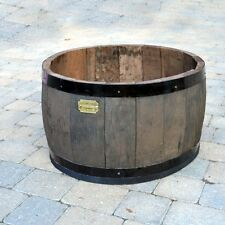 Oak Barrel Planter - started life in Scotland as a whisky cask!  H33cm x D60cm