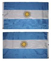 3x5 Embroidered Sewn Argentina 300D Nylon Flag 3'x5' 3 Clips Heavy Duty