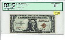 1935A $1 HAWAII SILVER CERTIFICATE Fr2300. TOUGH Z-B BLOCK. PCGS VERY CHOICE 64!